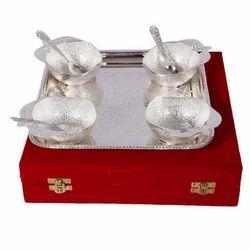 German Silver Apple Shape Bowl Set