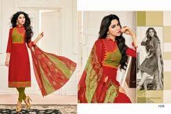 3/4 Sleeve Samaira Salwar Suit Fabric