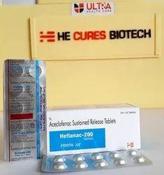 Aceclofenac 200mg Tablet