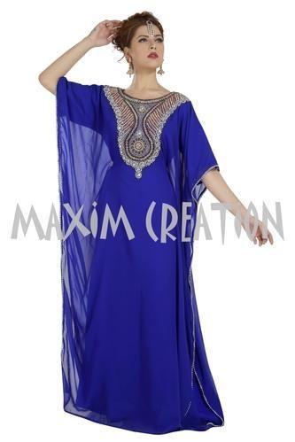 290002850ee Western Royal Blue Night Wear Evening Gown Farasha