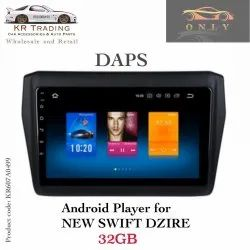 Black Plastic Swift Dzire MP5 Player