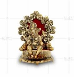 Gold Plated Lalbagh Ganesh Idol