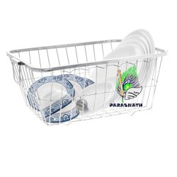 Parasnath Heavy Stainless Steel Medium Dish Drainer