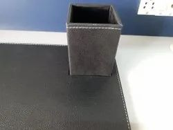 Leather Square Pen Holder