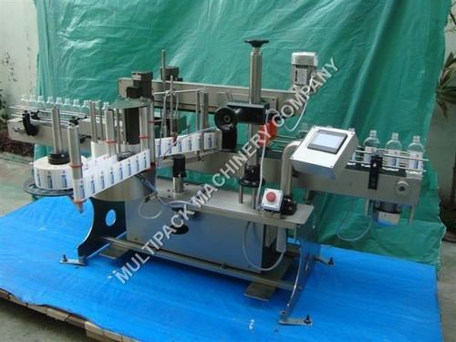 Sticker Labelling Machine Two Side Flat Bottle Sticker