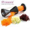 Plastic And Ss Floraware Spiral Black Color Vegetable & Fruit Slicer, for Household