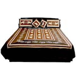 Rajasthani 5 Piece Silk Double Bed Cover 303