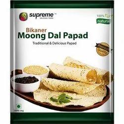 Bikaner Moong Dal Papad, Size: 140mm, Packaging Type: Packet