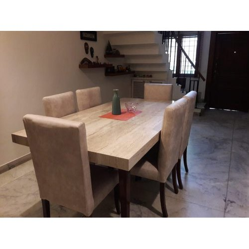 Brown Modern 6 Seater Wooden Dining Table Set for Home, Rs ...