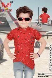 Cotton Party Wear Kids Shirts