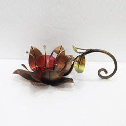 Iron Single Flower Candle Holder