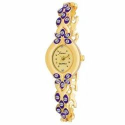 Golden Bracelet Women Wrist Watch