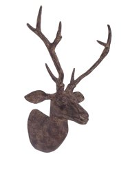 Large Metal Deer Head Stag Wall Animal Statue Figurine