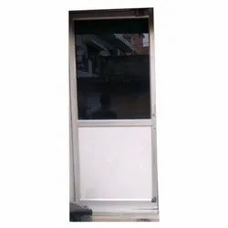 Silver Aluminium Hinged Door