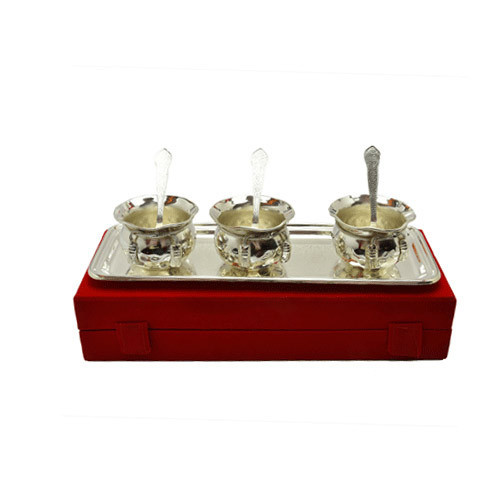 Silver Plated Brass Handi Set