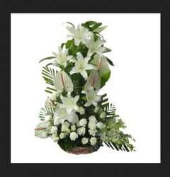 Aura White Flower Bouquet