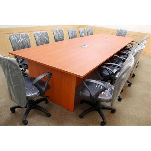 Rectangular Brown Conference Room Table Set Rs Set ID - Conference room table set