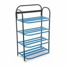 Steel Art Stainless Steel Shoe Rack Capsule Pipe, For Home, 4 Shelves