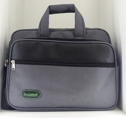 Grey Polyester Bagdrive OLB Office Laptop Bag