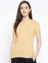 Women's Cotton Printed T-Shirt