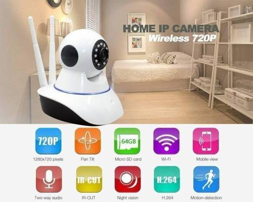 Safeseed V380-360 Degree Rotational Wireless Smart CCTV Security Camera for  All Smartphones & Tablet
