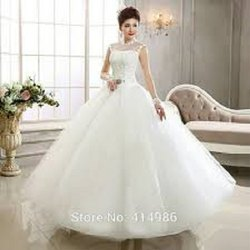 Net Junebery Bridal Gown, Age: 2 Years Baby