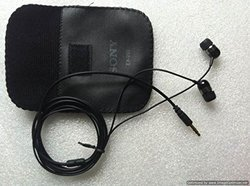 Black Sony EX-200 Stereo Dynamic Earphone with Mic