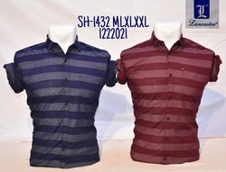 Casual Wear Men Striped Shirt