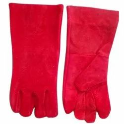 Red Heavy Duty Leather Gloves