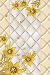 GOLDEN FLOWER PRINTED DIGITAL DOOR