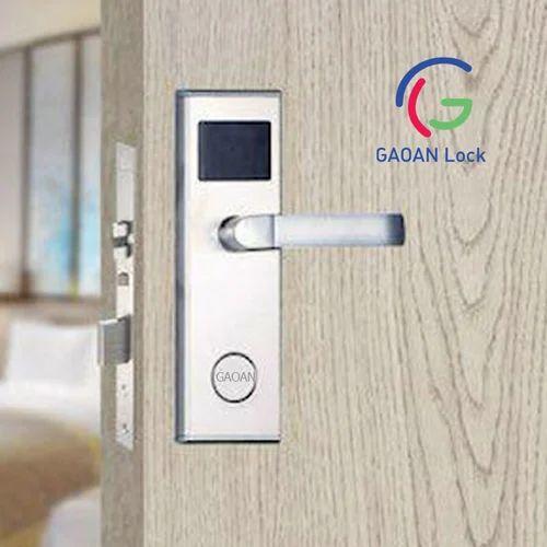 Gaoan Locks Brass Hotel Door Lock System Stainless Steel