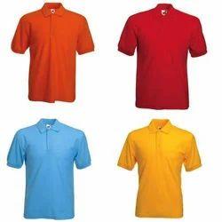 Black Cotton Collar Neck T Shirt