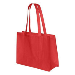 Handled Red Non Woven Shopping Bag