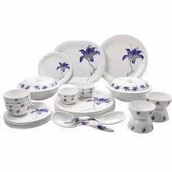 Blue Flora Melamine Dinner Set