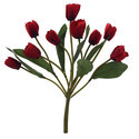 Dark Red Artificial Tulip Bunch, Pack Size: 9 Heads