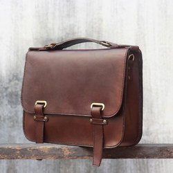 Rectangular Leather Office Bag