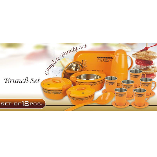 Plastic Brunch 18 Piece Casseroles Set