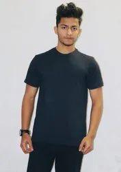 Men Half Sleeves Black Compression T Shirt