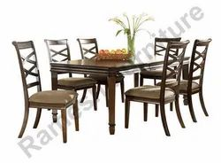 6 Chair Wooden Dining Table Set