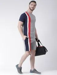 Cotton Round Mens Casual Wear Clothing Set, Size: S-XXL