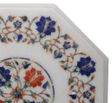 Beautiful  White Marble Design Stone Hand Painted Home Table