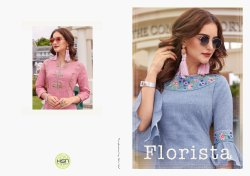 Florista Vol-1 Festival For Stylish Milange Cotton with Designer Kurtis