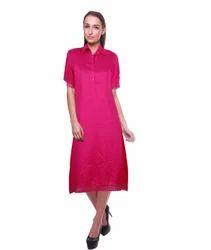 Ladies solid dress