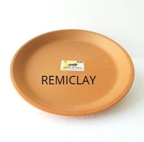 Brown Plain Terracotta Plates, Size: 4 - 6 inch