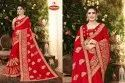 Dyed Georgette Heavy Embroidery & Diamond Work Saree with Lace - Raja Rani