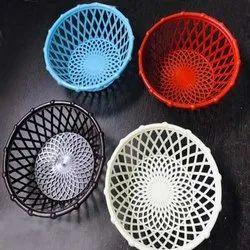 Plastic Fruit Basket, Round, Size: 10 Inch