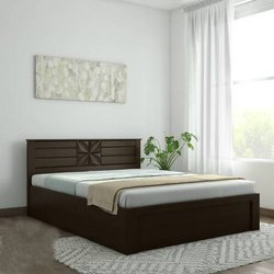 Hydraulic Storage Double Wooden Bed