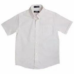 Kids White School Shirt