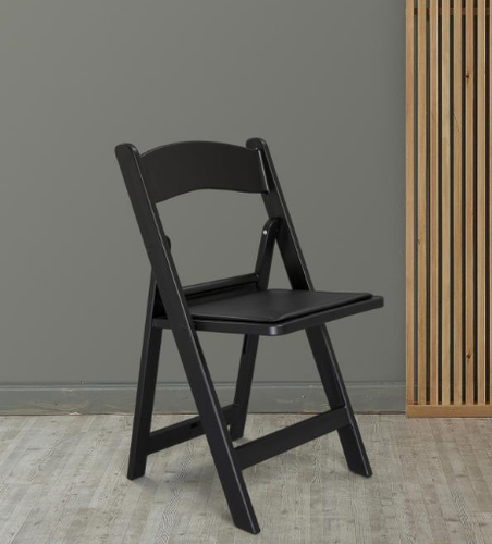 Excellent Comfold Flat Foldable Resin Cussion Chair Black Evergreenethics Interior Chair Design Evergreenethicsorg