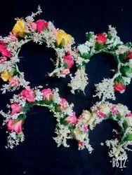 Artificial rose flowers brooch